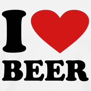 White I love Beer T-Shirts - Men's Premium T-Shirt