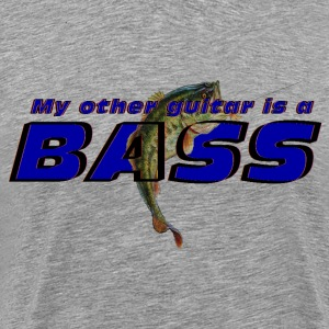 'My other guitar is a BASS' funny fish logo shirt - Men's Premium T-Shirt