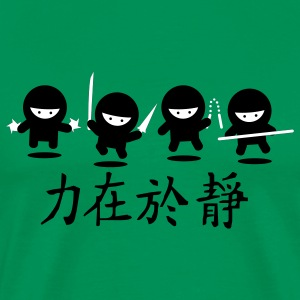 Bright green Ninja Army T-Shirts - Men's Premium T-Shirt
