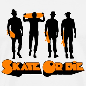 clockwork orange skateboard design - Men's Premium T-Shirt