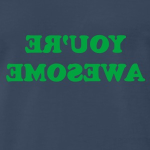 Navy Awesome T-Shirts - Men's Premium T-Shirt