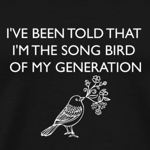 Black Song Bird T-Shirts - Men's Premium T-Shirt