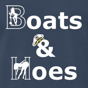 Navy Boats and Hoes T-Shirts - Men's Premium T-Shirt