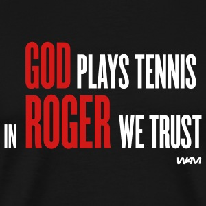 Black GOD plays tennis T-Shirts - Men's Premium T-Shirt