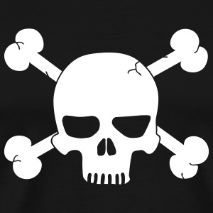 Black Crossbones skull T-Shirts - Men's Premium T-Shirt