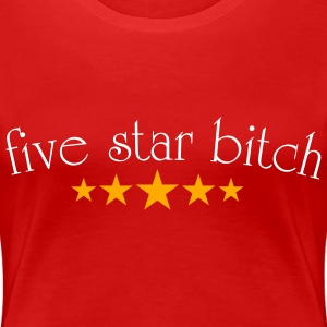 Red 5 star Bitch Plus Size - Women's Premium T-Shirt