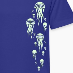 Royal blue jellyfish Kids' Shirts