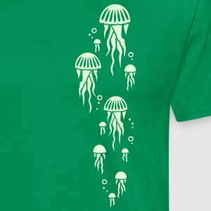 Forest green jellyfish T-Shirts - Men's Premium T-Shirt