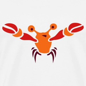 White marine_water_crawfish T-Shirts - Men's Premium T-Shirt