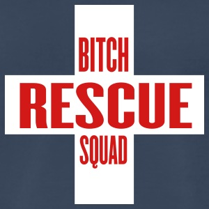 Navy bitch rescue squad by wam T-Shirts - Men's Premium T-Shirt