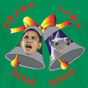 Bright green Obama Lama Ding Donga T-Shirts - Men's Premium T-Shirt