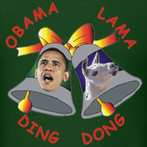 Forest green Obama Lama Ding Donga T-Shirts - Men's T-Shirt