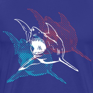 Royal blue 3D Glasses Shark Designer Graphic T-Shirts - Men's Premium T-Shirt