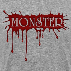 Heather grey Monster T-Shirts - Men's Premium T-Shirt