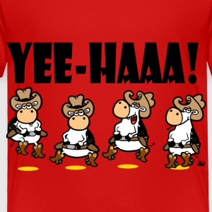 Red YEE-HAAA! Linedancing Cows Toddler Shirts - Toddler Premium T-Shirt