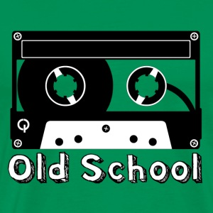 Old School Cassette Men's Green T-Shirt - Men's Premium T-Shirt
