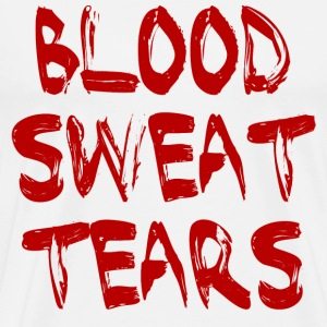 White BLOOD SWEAT & TEARS T-Shirts - Men's Premium T-Shirt