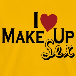 Gold i_love_make_up_sex T-Shirts - Men's Premium T-Shirt