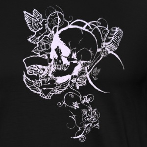 Skull tattoo banner vine [white edition] - Men's Premium T-Shirt