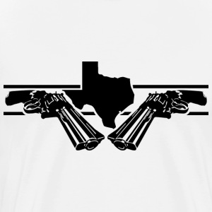 White texas 2 guns T-Shirts - Men's Premium T-Shirt