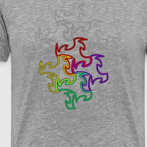 Heather grey Tesselation 5 T-Shirts - Men's Premium T-Shirt