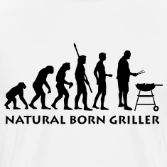 White natural_born_griller T-Shirts