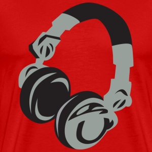 Red Headphones T-Shirts - Men's Premium T-Shirt