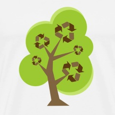 Natural Recycle Tree Green T-Shirts