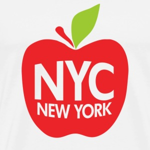Natural Green Big Apple NYC T-Shirts - Men's Premium T-Shirt