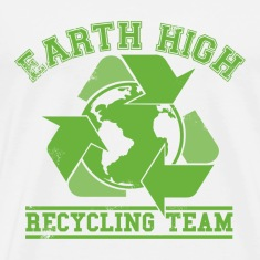 White Earth Recycling Team Faded T-Shirts
