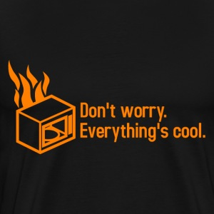 Microwave on Fire III - Men's Premium T-Shirt