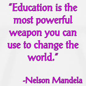 Education is the most powerful weapon that can change the world essay