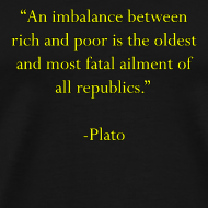 Design ~ An imbalance between rich and poor is the oldest and most fatal ailment of all republics. -Plato