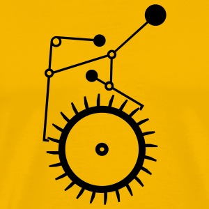 Yellow grasshopper escapement (1c) T-Shirts - Men's Premium T-Shirt
