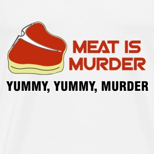 White Meat Tasty Murder T-Shirts - Men's Premium T-Shirt
