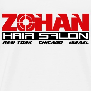 White Zohan Hair Salon  T-Shirts - Men's Premium T-Shirt