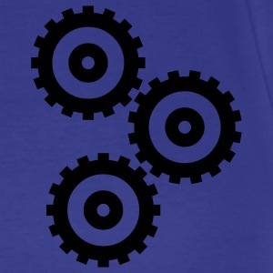 Royal blue cogs T-Shirts - Men's Premium T-Shirt