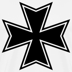 White maltese iron cross  T-Shirts