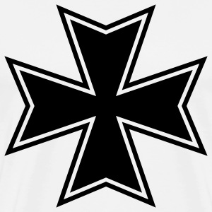 White maltese iron cross  T-Shirts - Men's Premium T-Shirt