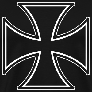 Black iron cross T-Shirts - Men's Premium T-Shirt