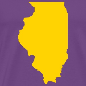 Purple Illinois T-Shirts - Men's Premium T-Shirt