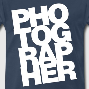 Photographer Text Mens 3XL T-Shirt - Men's Premium T-Shirt