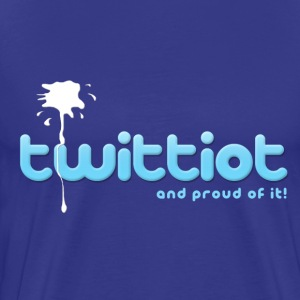 Royal blue twittiot and proud of it! T-Shirts - Men's Premium T-Shirt