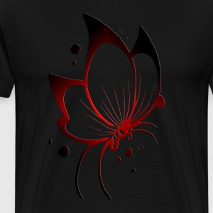 Black Butterfly, Red/Black T-Shirts - Men's Premium T-Shirt