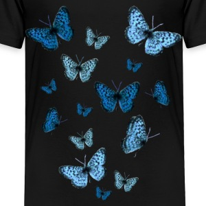 Black Blue Butterflies Toddler Shirts - Toddler Premium T-Shirt