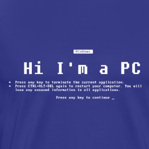 I'm a PC (Blue Screen of Death) T-Shirts - Men's Premium T-Shirt