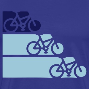 Royal blue bike  T-Shirts - Men's Premium T-Shirt