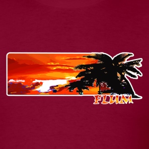 Burgundy Flum Surf T-Shirts - Men's T-Shirt
