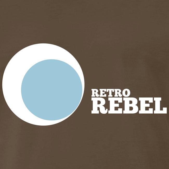 retro rebel shirt white (real retro colors)