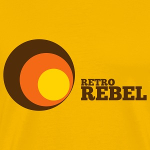 Gold retro rebel T-Shirts - Men's Premium T-Shirt